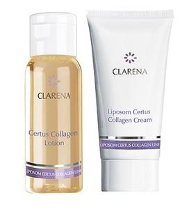 CLARENA Certus Collagen Mini Set, Mini zestaw kosmetyków do cery dojrzałej i starzejącej się, 30 + 15 ml