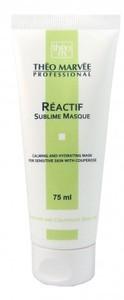 THEO MARVEE Reactif Sublime Masque, Kremowa maska łagodząca, cera naczynkowa, z rumieniem, wrażliwa, 75 ml