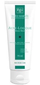 THEO MARVEE Acne Logique Mask Noir, Silnie oczyszczająca maska ściągająca pory, cera trądzikowa, tłusta i mieszana, 75 ml