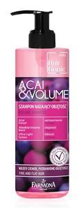 [W] FARMONA Hair Genic Acai & Volume, Szampon do włosów nadający objętość, włosy cienkie i płaskie, 400 ml