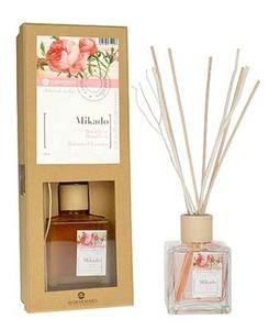 [W] FLOR DE MAYO, Patyczki bambusowe + olejek zapachowy Róża, 50 ml