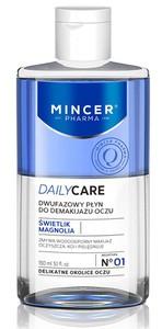 MINCER Daily Care, Dwufazowy płyn do demakijażu oczu, każda cera, 150 ml