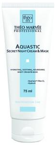 THEO MARVEE Aquastic Secret Night Cream, Silnie nawilżający krem - maska  na noc, cera sucha i odwodniona, 75 ml
