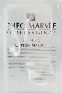 THEO MARVEE 4w1 Cotton Mask, Nawilżająca, regenerująca i przeciwzmarszczkowa maska w płacie, każda cera, 1 szt