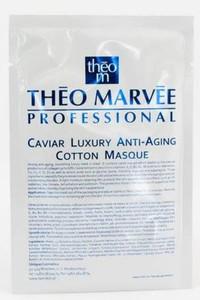 THEO MARVEE Luxury Anty Aging Cotton Mask, Przeciwzmarszczkowa maska z kawiorem w płacie, cera dojrzała, 1 szt
