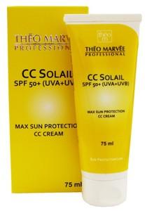 THEO MARVEE CC Solail SPF 50+, Krem CC wyrównujący koloryt skóry z blokerem, każda cera, 75 ml