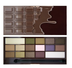 MAKEUP REVOLUTION I Love Make Up Palette, Zestaw cieni do powiek 16 kolorów, I Heart Chocolate, 22g