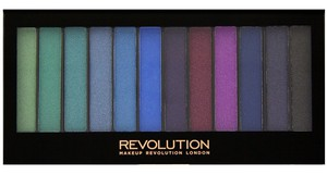 MAKEUP REVOLUTION Redemption Palette, Zestaw 12 cieni do powiek, Mermaids vs Unicorns, 14g