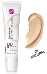 BELL Hypoallergenic BB Cream Make-Up, Hypoalergiczny fluid multifunkcyjny, 02 Natural, 30g