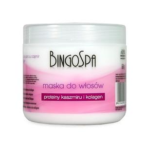 BINGO SPA, Maska do włosów z proteinami kaszmiru i kolagenem, włosy matowe, 500 g