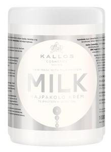 KALLOS KJMN Milk, Odżywcza maska do włosów z proteinami mlecznymi, każde włosy, 1000 ml