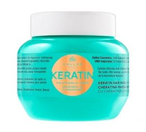 KALLOS KJMN Keratin, Maska odżywcza z keratyną do włosów suchych i zniszczonych, 275 ml