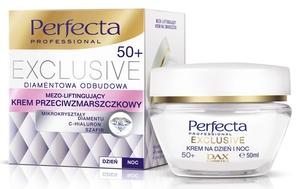 DAX Perfecta Exclusive 50+, Krem  przeciwzmarszczkowy mezo-liftingujący na dzień i na noc, każda cera, 50 ml