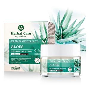 FARMONA Herbal Care, Krem nawilżający na dzień i na noc Aloes, cera mormalna i sucha, 50 ml
