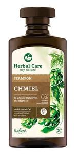 FARMONA Herbal Care, Szampon do włosów Chmiel, włosy matowe, bez objętości, 330 ml