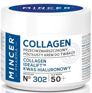 MINCER Collagen, Półtłusty krem przeciwzmarszczkowy na dzień i na noc 50+, cera dojrzała, 50 ml