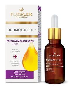 FLOSLEK Dermo Expert, Przeciwzmarszczkowy olejek na twarz, szyję i dekolt, cera dojrzała, 30 ml