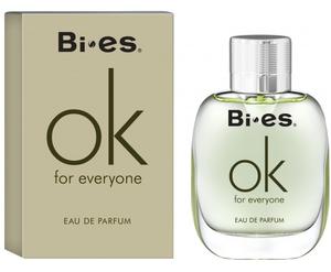BI-ES OK for Everyone EDT, Woda toaletowa unisex dla kobiet i mężczyzn, linia owocowo-kwiatowo-piżmowa, 100 ml