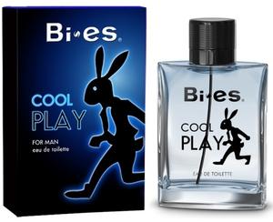 BI-ES Cool Play EDT, Męska woda toaletowa, linia drzewno-cytrusowo-piżmowa, 100 ml