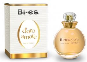 BI-ES D`Oro Amore EDP, Damska woda perfumowana, linia kwiatowo - owocowa, 100 ml