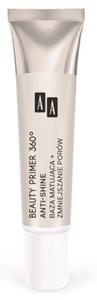 [W] AA Beauty Primer 360⁰, Anti-Shine Baza matująca i zmniejszająca pory, cera tłusta, mieszana i mormalna, 30 ml