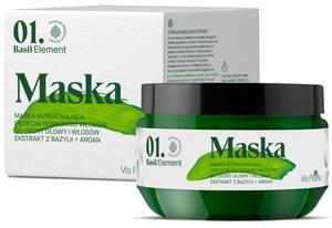 VIS PLANTIS Basil Elements, Maska wzmacniająca przeciw wypadaniu włosów, 200 ml