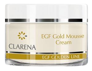 CLARENA EGF Gold Mousse Cream, Peptydowy krem w musie z kolidalnym złotem i BIO-Placentą, cera dojrzała, 50 ml
