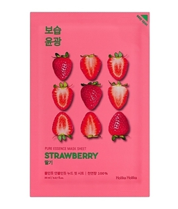 HOLIKA HOLIKA Mask Sheet Pure Essence Strawberry, Maseczka do twarzy z ekstraktem z truskawek, 1 szt.