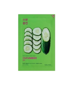 HOLIKA HOLIKA Mask Sheet Pure Essence Cucumber, Maseczka do twarzy z ekstraktem z ogórka, 1 szt.