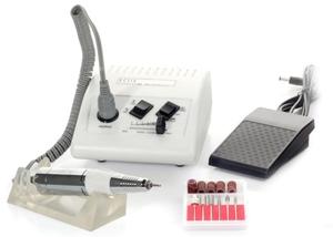 Frezarka kosmetyczna JD500 + komplet frezów, Biała, 1 kpl