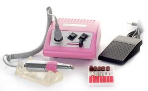 Frezarka kosmetyczna JD500 + komplet frezów, Różowa, 1 kpl