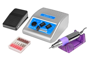 Frezarka kosmetyczna JD500 Sprint + komplet frezów, Srebrna, 1 kpl
