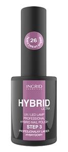 [W] INGRID Hybrid Ultra, Hybrydowy lakier do paznokci, 26 Taffy Treat, 7 ml