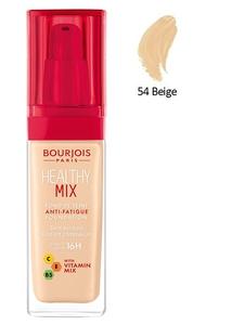BOURJOIS Healthy Mix, Rozświetlający podkład do makijażu, 054 Beige, 30 ml