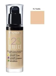 BOURJOIS 123 Perfect, Korygujący podkład do makijażu, 052 Vanille, 30 ml