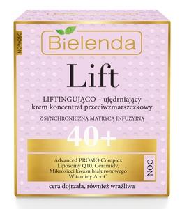 BIELENDA Lift, Liftingująco - ujędrniający krem koncentrat przeciwzmarszczkowy na noc 40+, 50 ml