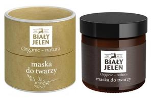 BIAŁY JELEŃ Organic Natura, Maska do twarzy na noc, cera wrażliwa i atopowa, 60 ml