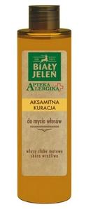 BIAŁY JELEŃ Apteka Alergika, Aksamitna kuracja do mycia włosów, włosy suche i matowe, 250 ml