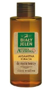 BIAŁY JELEŃ Apteka Alergika, Aksamitna kuracja do mycia twarzy, cera wrażliwa, 150 ml