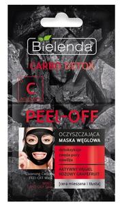 BIELENDA Carbo Detox, Oczyszczająca maska węglowa PEEL–OFF, cera mnieszana i tłusta, 2x6 ml