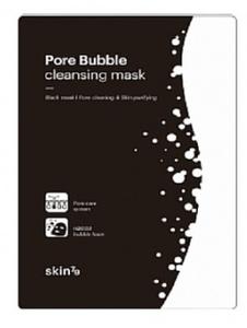 SKIN 79 Pore Bubble Cleasing Mask, Oczyszczająca maska w płacie do twarzy, 1 szt