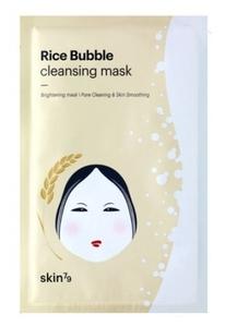SKIN 79 Rice Bubble Cleasing Mask, Oczyszczająca maska ryżowa w płacie do twarzy, 1 szt
