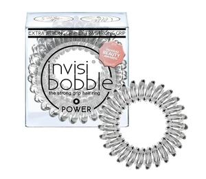 INVISIBOBBLE Power Crystal clear, Mocna gumka do włosów, przezroczysta, 3 szt