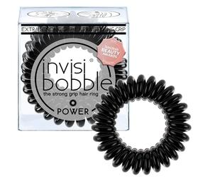 INVISIBOBBLE Power True black, Mocna gumka do włosów, intensywna czerń, 3 szt