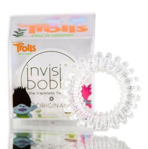 INVISIBOBBLE Original Troll Sparkling clear, gumka do włosów, musująca przezroczysta, 3 szt