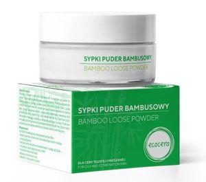 ECOCERA Absorbent Sebum Powder, Bambusowy puder matujący, transparentny, cera tłusta i mieszana, 8g