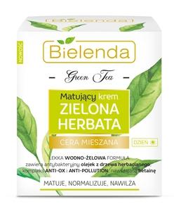 BIELENDA Zielona Herbata, Matujący krem na dzień, cera mieszana, tłusta, trądzikowa, 50 ml