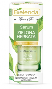 BIELENDA Zielona Herbata, Serum do twarzy, cera mieszana, tłusta, trądzikowa, 15 ml
