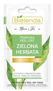 BIELENDA Zielona Herbata, Maseczka Peel-Off, cera mieszana, tłusta, trądzikowa, 2x5 ml
