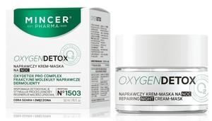 MINCER Oxygen Detox, Naprawczy krem na noc, cera sucha, wrażliwa, zniszczona, 50 ml